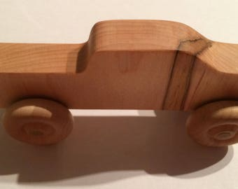 Limited edition Push truck push car made from hard maple lumber