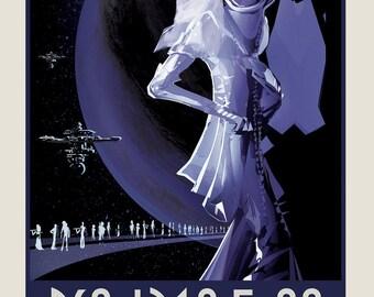 PSO J318.5-22 NASA Space Tourism Print - Exoplanet Travel Bureau Poster