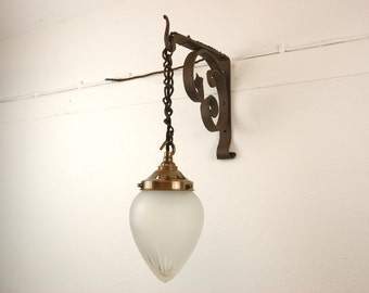 Metal Bracket Pendant Wall Light