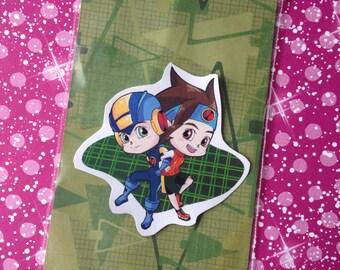 Megaman Battle Network: Lan and Megaman Sticker