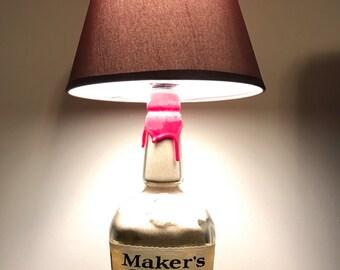 Makers Mark Bourbon Bottle Lamp