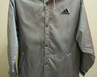 Rare Vintage ADIDAS Long Jacket With Hoodie