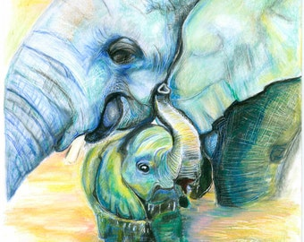 """NEW! Limited Edition Prints- """"Always Hope""""- Save Elephants"""