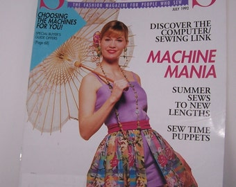 Sew News Magazine Back Issue July 1992 Vintage