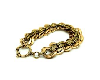 Vintage Chain Bracelet | 1960's Bracelet | Gold Tone Bracelet | Chain Link Bracelet | Chunky Bracelet | Statement Bracelet