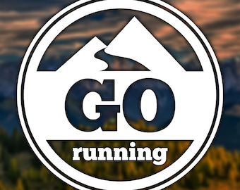 Go Running Sticker for Car, Window, Computer or Notebook - Decal