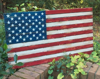 2-Sided Handcrafted American Porch Flag