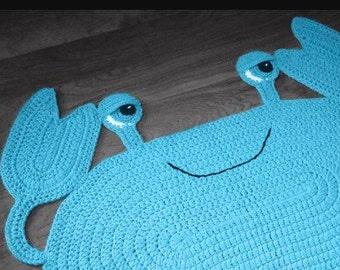 Crab crochet mat/rug