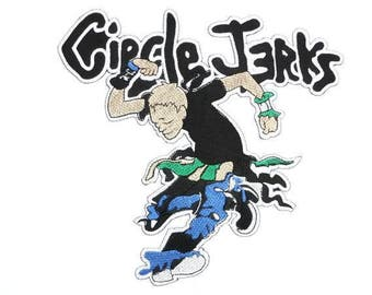 """Circle Jerks Punk Rock Embroidered Giant XL Vest Back Patch Backpatch 7.7""""x7.7"""""""