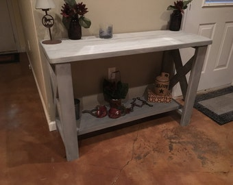 Charming rustic entryway table