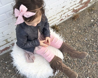 Sailor bow, pink lace, headbands, baby girl