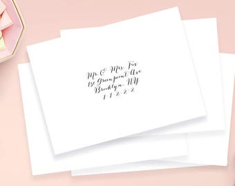 Envelope Calligraphy, Wedding Guest Address Labels 3.5x1.75