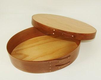 Shaker Oval Box - American Cherry, Baltic Birch - #4 Short