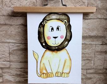 Print • lion •