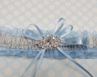 Blue prom garter,  Prom Garters