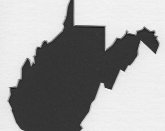 Pack of 3 West Virginia State Stencils,Made from 4 Ply Mat Board 16x20, 11x14 and 8x10