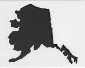 Pack of 3 Alaska State Stencils,Made from 4 Ply Mat Board 16x20, 11x14 and 8x10