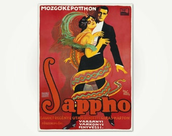 Sappho Vintage Silent Movie Poster Print - 1920's Hungarian Poster Art