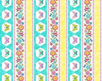 Blossom  - Northcott Studio - 1 Yard Cut - 21099-63 -Cotton Fabric - Quilting Fabric- Floral Fabric