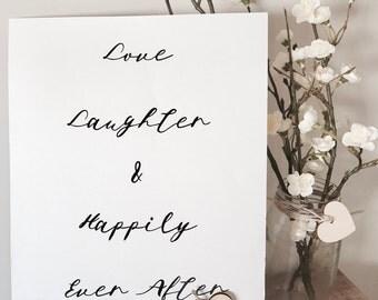 Wedding & Wishing Well signs