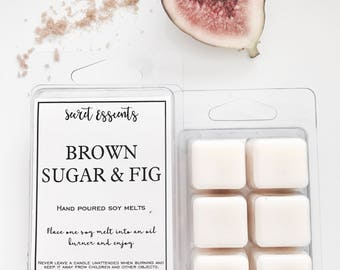 Brown Sugar & Fig Natural Soy Wax Candle Melts. Favors, thank you's, weddings, bridal party, baby shower