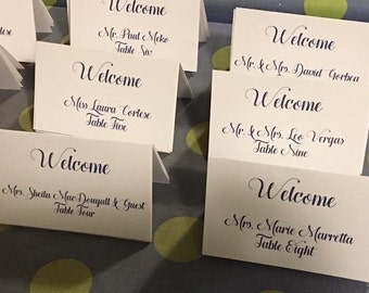 Customized Place Cards