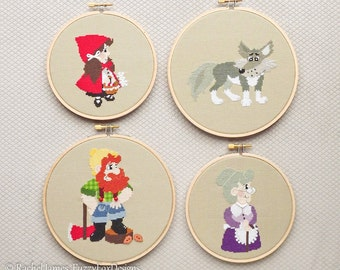 Little Red Riding Hood Series Cross Stitch Pattern PDF | Easy | Modern | Beginners Counted Cross Stitch | Instant Download