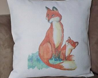 fox cushion, renard, Fox pillow, fox pillow cover, fox cushion cover, fox, fox throw pillow,  renard coussin, fox lover, fox lover gift