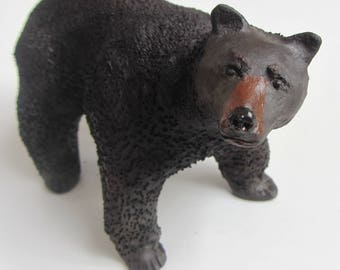 Black ceramic bear
