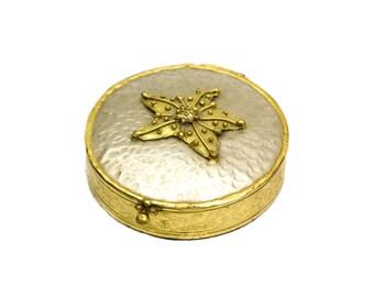 Lunacy Designs Hammered Brass Jewelry Box or Trinket Box