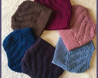 Handmade | Crochet Messy Bun Beanie | Ponytail Hat | Ear Warmer | Winter Cap | Top Knot Beanie Hat | Custom Made Beanie | Trendy Beanie |