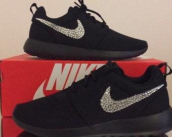 Kids black swarovski Nike Roshe