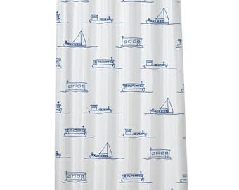 Houseboat shower curtain | Houseboat showercurtain