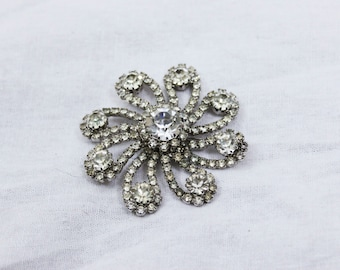 1950s Vintage Kramer Diamond Brooch