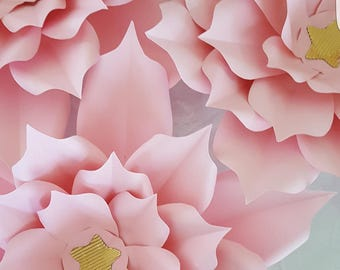Paper Flower Templateand Base  in PDF digital #15