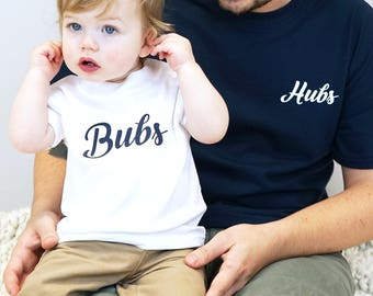 Daddy and Me - Father's Day gift - Hubs Shirt - Hubs and Bubs T-shirt Set - Father's Day gift