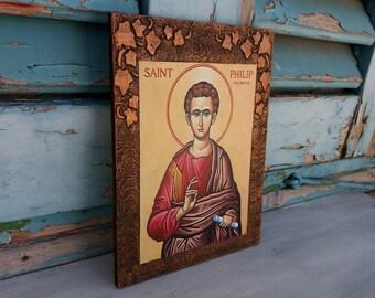 Philip the Apostle,Saint Philip,St Philip,Preacher,Patron Saint of Hatters,Agios Philippos,Christian Saints from the New Testament,Apostles