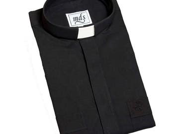 Clergy Shirt Tunnel/Tab MDS Cotton Rich in various sizes