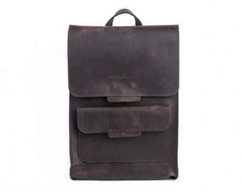 Leather backpack, mens backpack, leather rucksack, school backpack, backpack purse, womens backpack, hipster backpack, vintage backpack