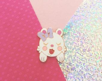 Lulu Bloo Kids Bunny Babe Hard Enamel Lapel Pin