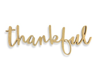 Thankful Sign | Thankful Wood Sign | Unfinished Word Cutout | DIY Words | Word Cutouts | Word Cut Out