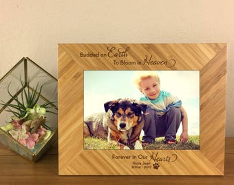 Pet Remembrance, Dog Remembrance, Dog Remembrance Gift, Dog Memorial, Pet Loss, Dog Loss, Pet Sympathy Gift, Personalized Pet Frame, Frame