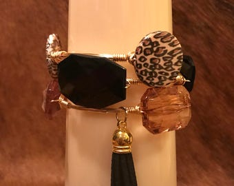 Leopard bangle set