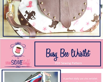 Busy Bee Wristlet PDF Bag Sewing Pattern