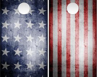 Stars and Bars American Flag Cornhole Wrap Bag Toss Decal Baggo Skin Sticker Wraps