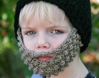 Crochet Beard Hat - Baby Beard Beanie - Adult Beard Hat - Lumberjack - Baby Beard Costume - Beard Hat - Warm Winter Hat - Newborn Beard Hat