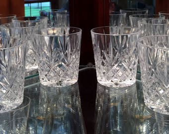 Set of 4 Cristal D'Arques Durand Provence Pattern Double Old Fashion Glasses  Vintage Barware Rocks Glasses  Collectible Housewarming Gift