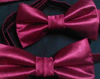 Burgundy Father and Son Bowties- Ringbearer, Groomsmen