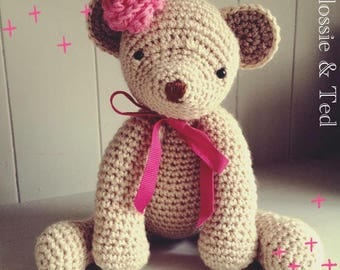 Crochet Teddy Bear - Made To Order - personalised