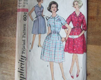 Vintage Simplicity Pattern 4003 for Women's and Misses One-Piece Dress Size 16 1/2
